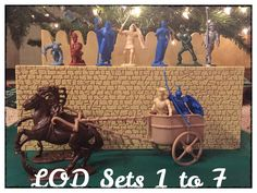 LOD Enterprises wishing you a Happy New Year!  Sample of figures from the first 7 sets and 6 more releases in 2018.  Please visit www.lodtoysoldiers.com for details. Plastic Toy Soldiers, Trojan War, One 7, Army Men, Happy New Year, Toys, Cool Toys, Miniatures, Figurines