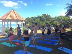 NRG2GO Instructor Moronike Laleye teaching yoga at Breezes Bella Costa. #nrg2go