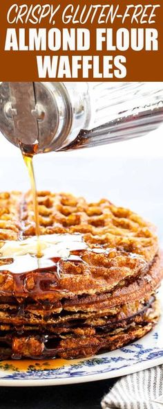 These almond flour waffles are gluten-free AND dairy-free! But more important than that, they're light, crispy, and delicious with maple syrup. Perfect for a big family brunch.