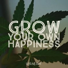 Grow Happy! simleaf.com #cannabis #marijuana #cannabiscommunity #weed…
