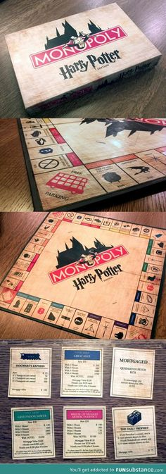 Harry Potter Monopoly exists. WHY DONT I OWN IT?! WTH why did i not know about this !!!
