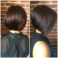Women, Brunette Medium Angled Bob: Chic Bob Haircuts