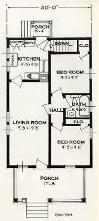 1926 Tiny House Plans: The Dayton This Plan is exactly like Aunt Ivy Fuselier's home in Louisiana when we were growing up. Small but very welcoming and full of love.