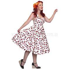 Plus Sizes :: Plus Sizes 20 - 22 :: Rockabilly Cherry Soda 50s Swing Dress