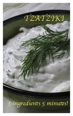 5 minutes 5 ingredients! #Homemade #Tzatziki Click the Pic for recipe courtesy www.bestillandeat.com SIMPLY.GORGEOUS.FOOD