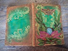 Your place to buy and sell all things handmade Personalized Journals, Custom Journals, Polymer Clay Creations, Polymer Clay Art, Clay Minerals, Fairy Homes, Journal Covers, Day Use, Healing Stones