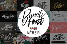 Bundle Font by Maulana Creative on @creativemarket