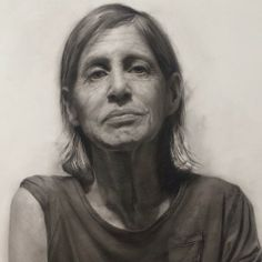 more work drawing on my Aunt Dale charcoal study for the painting. David Jon Kassan