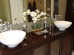 Double sink master bath