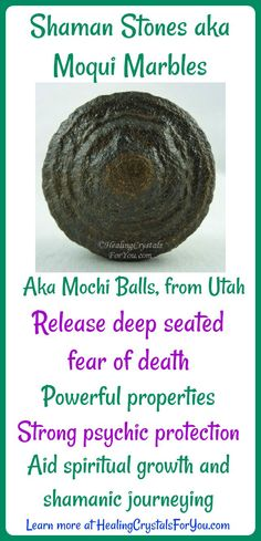 Shaman Stones aka #MoquiMarbles or Mochi Balls Good #psychicprotection stones that release deep seated #fearofdeath. Found in Utah with strong metaphysical properties. Aid spiritual growth and shamanic journeying.
