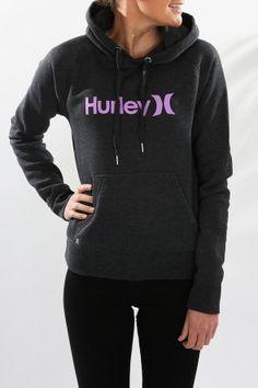 Hurley - One & Only Fleece Dark Heather Grey Fuchsia Glow $69.99 Shop // http://www.jeanjail.com.au/hurley-one-only-fleece-dark-heather-grey-fuchsia-glow.html