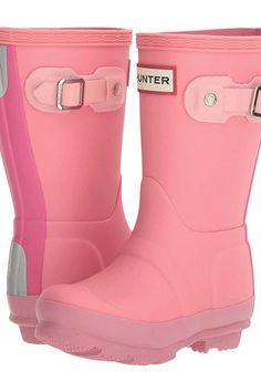 Hunter Kids Original Contrast Sole (Toddler/Little Kid) (Fondant Pink/Panther Pink/Pink Sand/Fuchsia) Girls Shoes - Hunter Kids, Original Contrast Sole (Toddler/Little Kid), KFT5000RCS-679, Footwear Boot General, Boot, Boot, Footwear, Shoes, Gift, - Street Fashion And Style Ideas