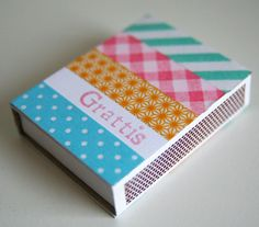 Washi Tape House Decorating / Decora tu casa washi tape matchbox
