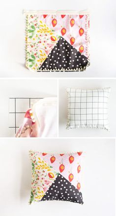 Pattern Blocked Pillow
