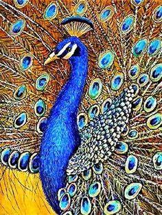 5D DIY Diamond Painting Animal Diamond Mosaic Cross Stitch Full Square – Ezbuypay Cross Paintings, Animal Paintings, Mosaic Flower Pots, Mosaic Crosses, Peacock Painting, Ningbo, 5d Diamond Painting, Diamond Art, Embroidery Kits