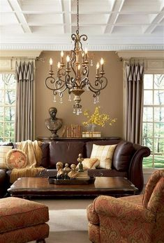48 Attractive Brown Living Room Design Ideas 48 Attractive Brown Living Room Design Ideas Ramona Curry thecurrys home ideas Any room of the house can be perfect nbsp hellip Living Room brown Living Room Decor Brown Couch, Living Room Green, Paint Colors For Living Room, Living Room Carpet, Home Living Room, Living Room Designs, Cozy Living, Living Rich, Traditional Living Room Furniture
