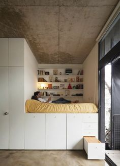 sweet home Das Bett baue ich fr - home Small Space Living, Tiny Living, Small Rooms, Small Apartments, Small Spaces, Living Spaces, Compact Living, Furnished Apartments, Studio Apartments