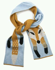 Foxy scarf- love this kitsch and quirky yumi style fox scarf even nice wrapped around a bag and flung on in the evening in the summer too