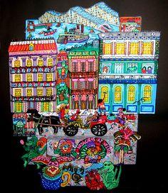 "Mardi Gras in New Orleans - 0499  12"" x 16"""