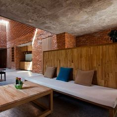 LT House: Project: LT House Architect: Tropical Space Project Location: Vietnam Project Date: 2014Baked bricks galore is what this house seems to be. This material is a traditional material used in Vietnam. Staying true to some of the principals of Tropical Architecture, all lumber also comes from local sources. To keep living creatures out, the bricks have glass in between to act as a buffer.