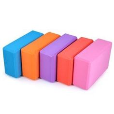 8 Colors High Quilaty EVA Yoga Block Brick Foaming Foam Home Exercise Fitness Health Gym Practice Tool Features: – Made of ultra lightweight non-toxic EVA foam, washable, non-combustible and anti-static. Gym Workouts, At Home Workouts, Brick Material, Yoga Block, Foam Sheets, Yoga For Beginners, Red And Pink, Orange Red, Body Shapes
