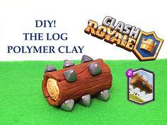 DIY Clash Royale The log - Legendary card - Polymer clay tutorial Halloween Costume Contest, Wedding Mood Board, Fimo Clay, Clay Tutorials, Clash Of Clans, Clay Crafts, Pokemon, Birthday, Clash Games