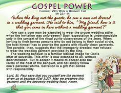 Gospel Power - Thursday, 20th Week in Ordinary Time