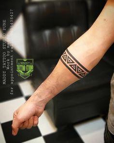 Maddy Tattoo studio pune Work by artist maddy For appointment C. - Maddy Tattoo studio pune Work by artist maddy For appointment Customize arm band t - Tribal Band Tattoo, Wrist Band Tattoo, Forearm Band Tattoos, Tribal Arm Tattoos, Black Band Tattoo, Black Tattoos, Band Tattoo Designs, Maori Tattoo Designs, Tattoo Sleeve Designs
