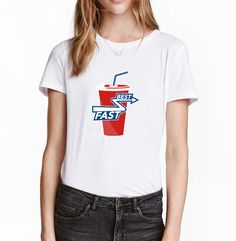 Best Fast Cola Printed Women Tops Sexy Red Mouth Punk T-Shirts 2017 Summer Creative Short Sleeve T Shirt Creative Top For Ladies #Affiliate