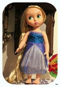 Blue silk dress. Rapunzel Disney Animator Dolls