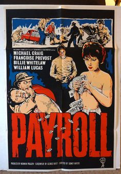 Movie Poster  Payroll  Original 1962 by MoviePostersAndMore