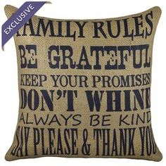 Handmade burlap pillow with block printing.    Product: PillowConstruction Material: BurlapColor: Navy and beigeFeatures:  Handmade by TheWatsonShopZippered closureInsert included Made in the USA Dimensions: 16 x 16Cleaning and Care: Spot clean only