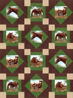 Horse Ranch Stables Quilt Kit Pre-Cut Blocks