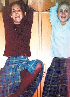 Lurid claims: Miss Middleton with Jessica Hay, right, who was interviewed for a book about Prince William's fiance's school days