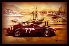 1957 Maserati Vintage Grand Prix Car Monaco Race by DrivenMavens, $35.00