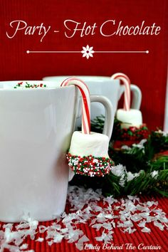 Dress Up Your Hot Chocolate Mugs with these easy to make cute Candy Canes