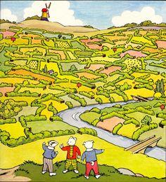 'Rupert's Secret Route' from Rupert Annual (1980) Illustrations by John Harrold