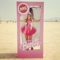 Playa Barbie Black Rock City Edition on Tutu Tuesday #burningman #blackrockcity…