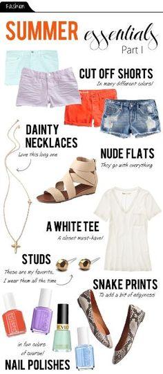 Summer wardrobe essentials by Kelly Jelic