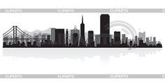San Francisco skyline silhouette- tattoo
