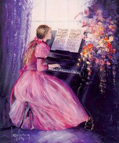 The girl plays the piano is one of artworks by Juan Fortuny. Artwork analysis, large resolution images, user comments, interesting facts and much more. Music Painting, Art Music, Painting & Drawing, Piano Y Violin, Piano Art, Spanish Painters, Spanish Artists, Woman Painting, Figure Painting