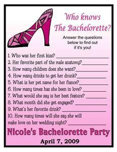 12 Who Knows The Bachelorette Party Cards Nice