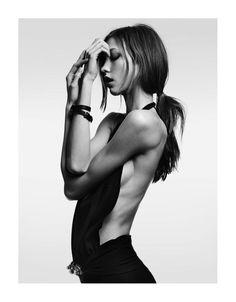 Magazine: Vogue Japan February  Model: Karlie Kloss  Photographer: Hedi Slimane  Stylist: Mika Mizutani