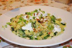 pasta met courgette en geitenkaas