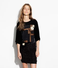 Magdalena Top, Black/Gold from Waldraud