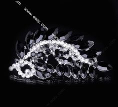 7.2x3.7cm Black Trendy Peacock Tail Spread Paved Crystal Lady Pin Brooch Rhinestone  #eozy