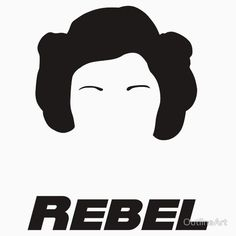 Support Princess Leia Organa and the Rebel Alliance with this digital art silhouette. Star Wars fans unite! Prints available in our Etsy shop.