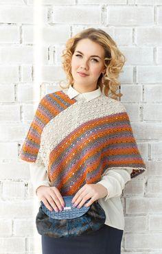 Crocheted Poncho | Вязаное пончо «Яхонтовая моя» — Купить, заказать, пончо, одежда, накидка, вязаный, вязание, вязание крючком, шерсть, ручная работа
