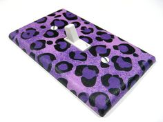 Light Switch Cover Purple Cheetah Bedroom Children by ModernSwitch, $6.00