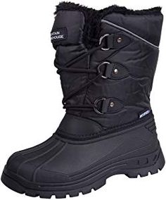 Mountain Warehouse Whistler Kids Snow Boots - Snowproof, Warm, Breathable Childrens Winter Boots, Durable & High Traction Soles - Ideal for Walking & Daily Use Kids Snow Boots, Winter Boots, Whistler, Boys Shoes, Black Boots, Combat Boots, Walking, Warm, Shoe Bag